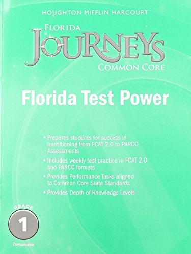 9780547893761: Houghton Mifflin Harcourt Journeys Florida: Florida Test Power Student Edition Grade 1