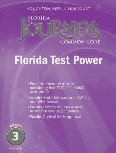 9780547893785: Houghton Mifflin Harcourt Journeys Florida: Florida Test Power Student Edition Grade 3