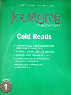 Journeys Cold Reads Grade 1 By HARCOURT HOUGHTON MIFFLIN