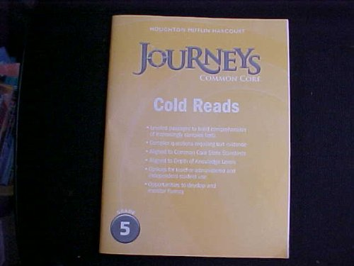 9780547893938: Journeys: Cold Reads Grade 5