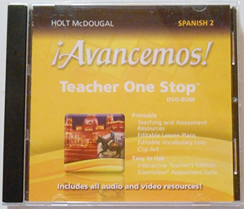 9780547897059: ¡Avancemos!: Teacher One Stop Planner DVD-ROM Level 2 2013 (Spanish Edition)