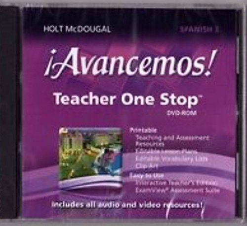 9780547897073: ¡Avancemos!: Teacher One Stop Planner DVD-ROM Level 3 2013 (Spanish Edition)