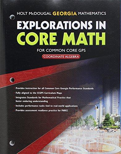 9780547902128: Explorations in Core Math Georgia: Common Core GPS Student Edition Coordinate Algebra 2014