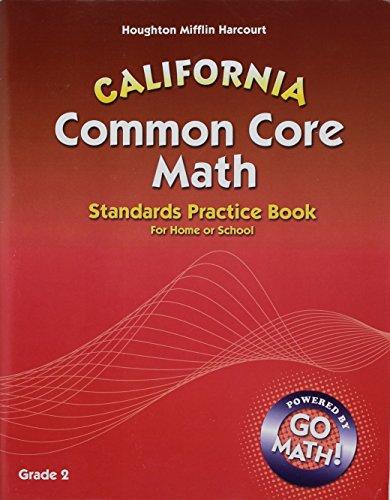 9780547902272: Houghton Mifflin Harcourt Common Core Math California: Student Standards Practice Book Grade 2