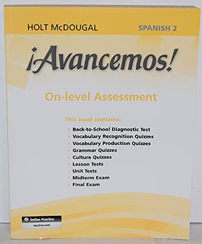 9780547905914: ¡Avancemos!: Assessment On-Level Level 2 (Spanish Edition)