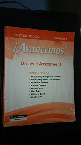 9780547906713: ¡Avancemos!: Assessment On-Level Level 1A Level 1B, and Level 1 (Spanish Edition)