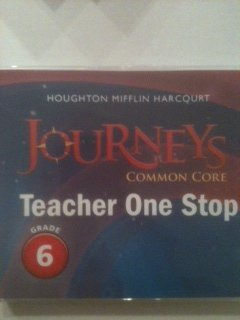 9780547929033: Houghton Mifflin Harcourt Journeys, Common Core: Teacher One-Stop, Grade 6