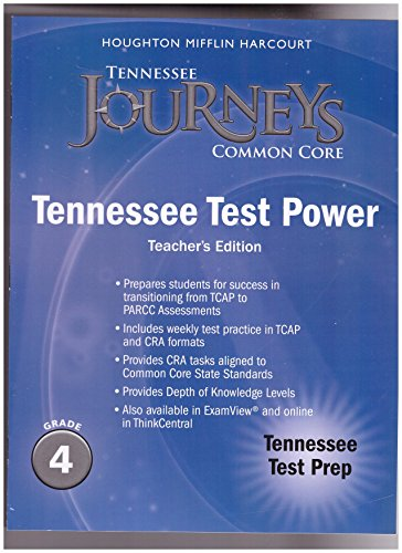 9780547935737: Houghton Mifflin Harcourt Journeys Tennessee: Test Prep with Answer Key Grade 4
