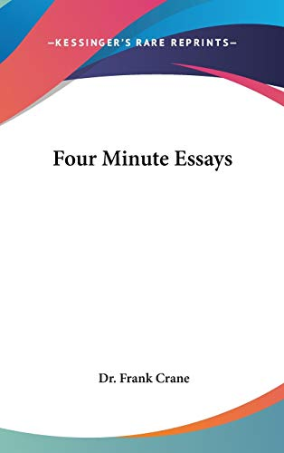 9780548003329: Four Minute Essays