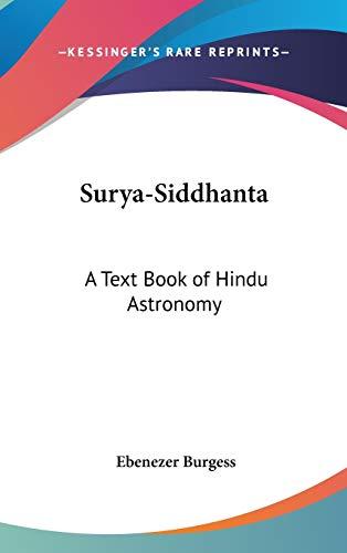 9780548003763: Surya-Siddhanta: A Text Book of Hindu Astronomy