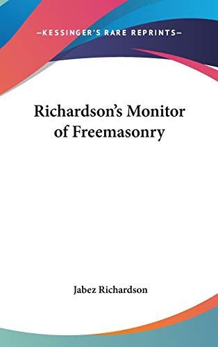 9780548004036: Richardson's Monitor of Freemasonry