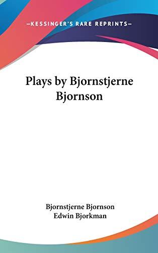 9780548007921: Plays by Bjornstjerne Bjornson