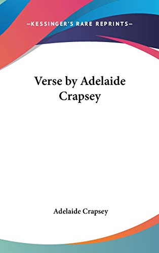 9780548010181: Verse by Adelaide Crapsey