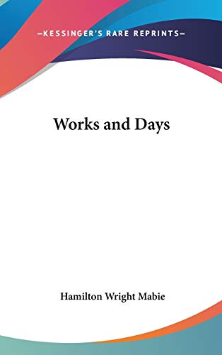9780548022290: Works and Days