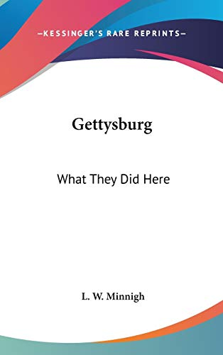 9780548046333: Gettysburg: What They Did Here