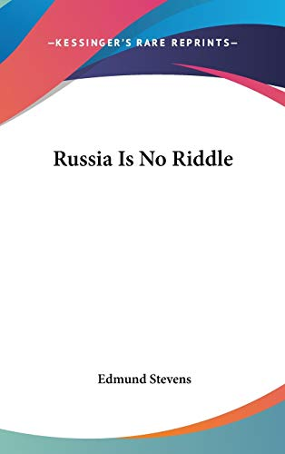 9780548066324: Russia Is No Riddle
