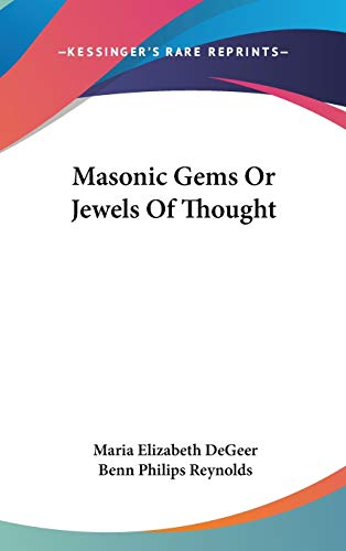 9780548076460: Masonic Gems Or Jewels Of Thought