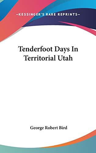 9780548077726: Tenderfoot Days In Territorial Utah
