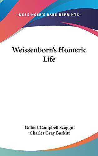 9780548086483: Weissenborn's Homeric Life