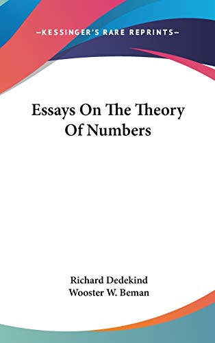 9780548089859: Essays On The Theory Of Numbers