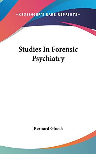 9780548095003: Studies In Forensic Psychiatry