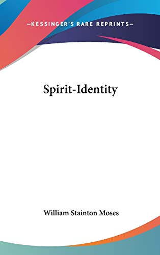 9780548095232: Spirit-Identity