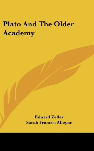 9780548101353: Plato And The Older Academy
