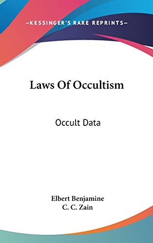 9780548103104: Laws Of Occultism: Occult Data