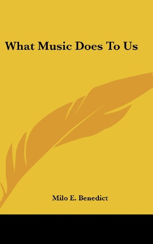 9780548110218: What Music Does To Us