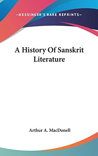 9780548113189: A History Of Sanskrit Literature