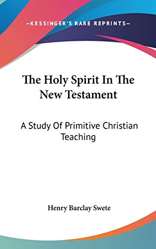 9780548113998: The Holy Spirit In The New Testament: A Study Of Primitive Christian Teaching