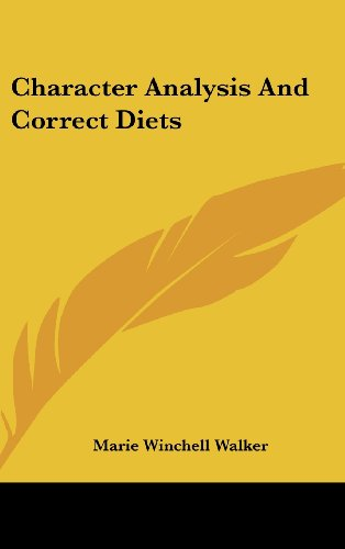 9780548117187: Character Analysis And Correct Diets
