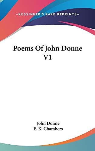 9780548121061: Poems Of John Donne V1