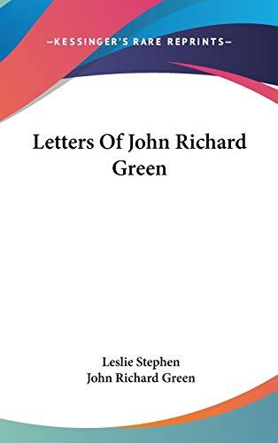 9780548127919: Letters Of John Richard Green