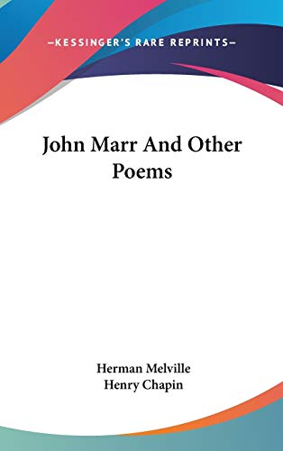 9780548141434: John Marr and Other Poems
