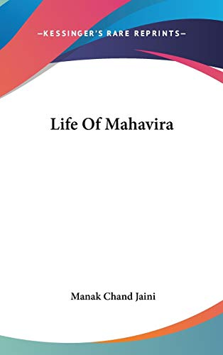 9780548150818: Life of Mahavira