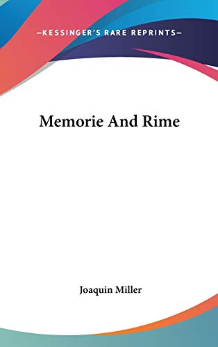 9780548172001: Memorie And Rime