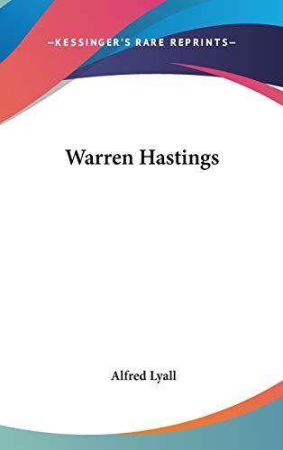9780548177037: Warren Hastings