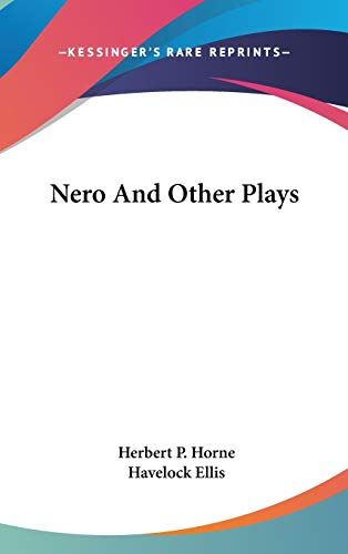 9780548185889: Nero and Other Plays