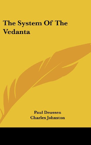 9780548197202: The System Of The Vedanta