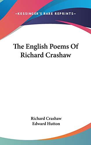 9780548215371: The English Poems Of Richard Crashaw