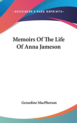 9780548223895: Memoirs Of The Life Of Anna Jameson