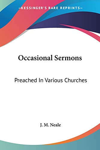 9780548288436: Occasional Sermons: Preached in Various Churches