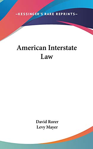 9780548335147: American Interstate Law