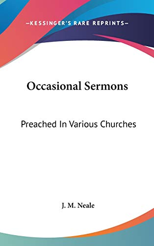 9780548346310: Occasional Sermons: Preached in Various Churches