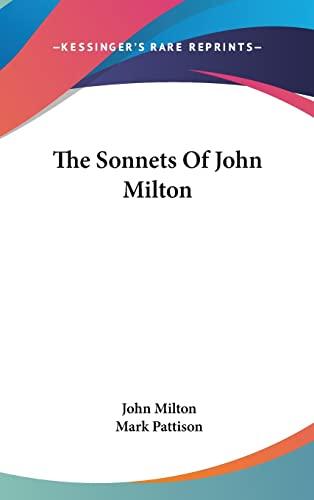 9780548346600: The Sonnets of John Milton
