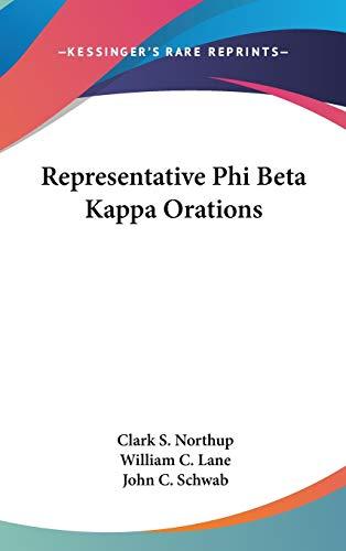 9780548424490: Representative Phi Beta Kappa Orations