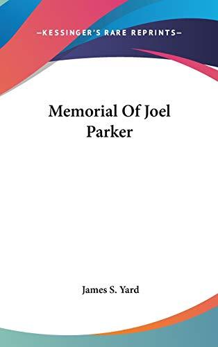 9780548520581: Memorial Of Joel Parker