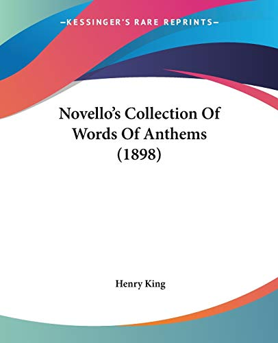 Novello's Collection Of Words Of Anthems.: NOVELLO.