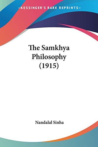 9780548720677: The Samkhya Philosophy (1915)